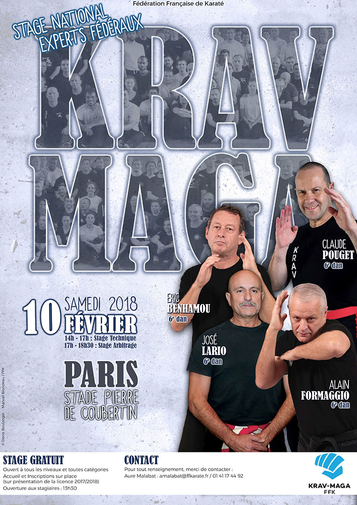 stage kravmaga2018 Paris Experts fédéraux 1
